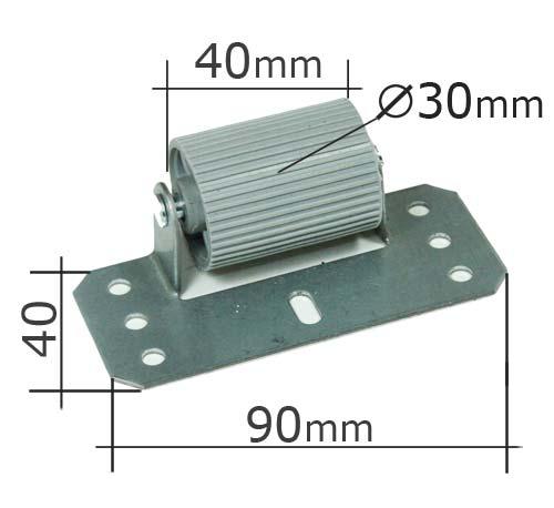 Abdruckrolle Maße mit Anschraubplatte