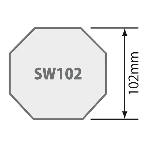 Passend für Achtkantwelle SW 102 Ø 102 mm