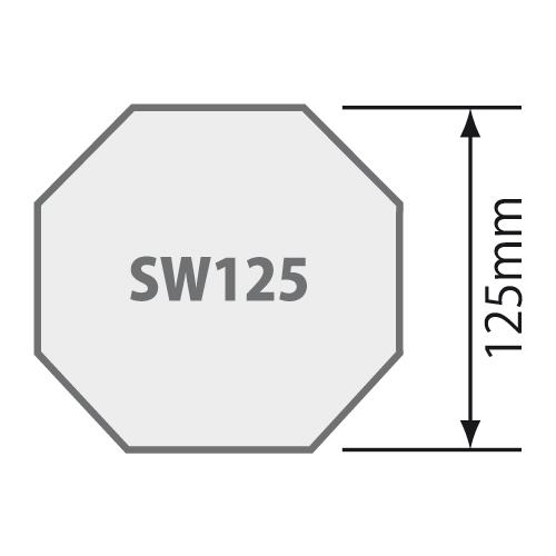 Passend für Für Achtkantwelle SW 125