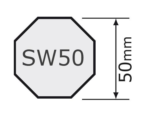 für Achtkantwelle SW 50