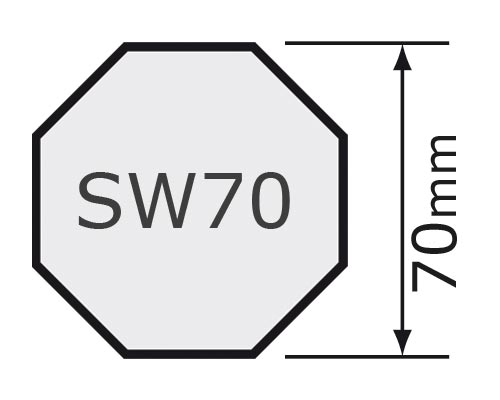 für Achtkantwelle SW70