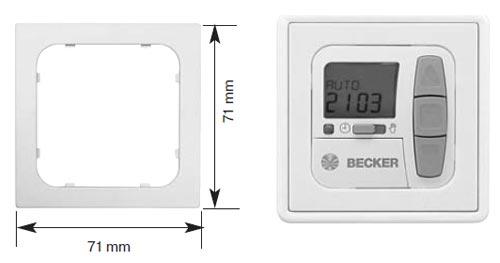Hervorragend Becker Centronic Zwischenrahmen für Gira Standard / S-Color  NH62