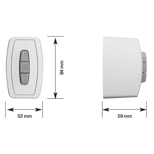 becker schalter taster easycontrol ec41 aufputz ultrawei schalter taster rolladen und. Black Bedroom Furniture Sets. Home Design Ideas