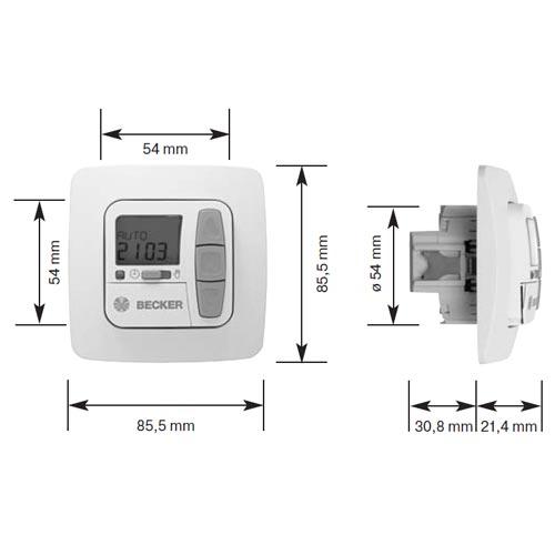 Becker Zeitschaltuhr Centronic TimeControl TC42 Maße