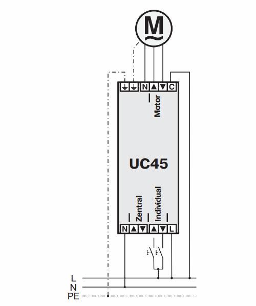 Becker Steuergerät UC 45 Anschluss