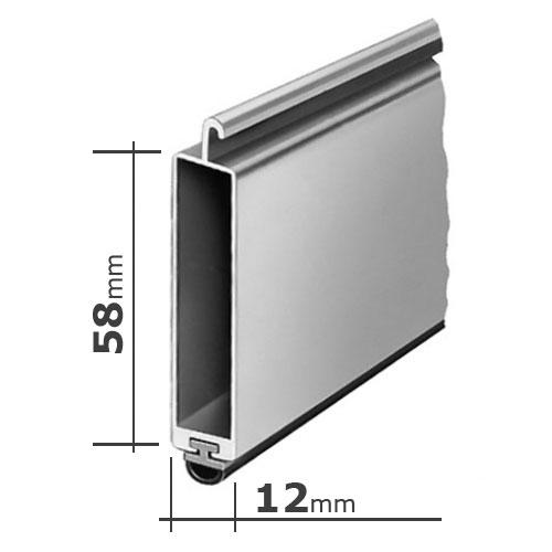 enobi endleiste aluminium abschluss mit hohlkammer und gummi keder f r standard profile braun. Black Bedroom Furniture Sets. Home Design Ideas
