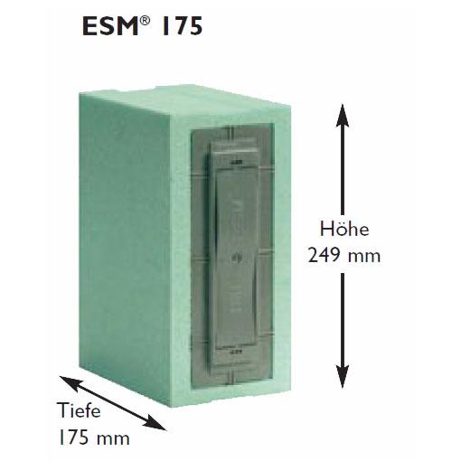 Maße ESM 175 Gurtkasten