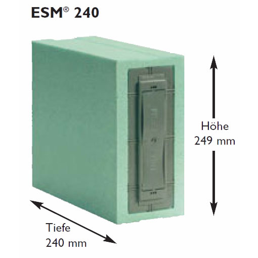 Maße ESM 240 Gurtkasten