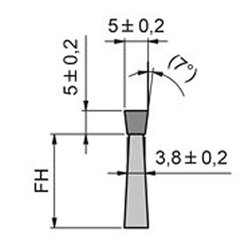 Maße Streifenbürste 5038 Flex