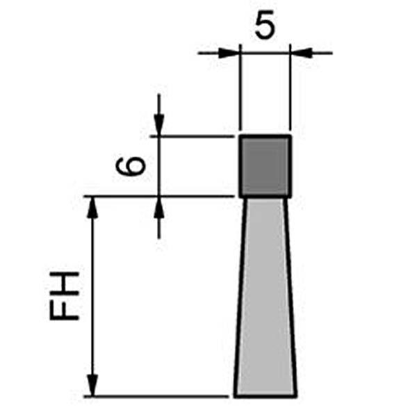 Maße Streifenbürste 5060 Flex