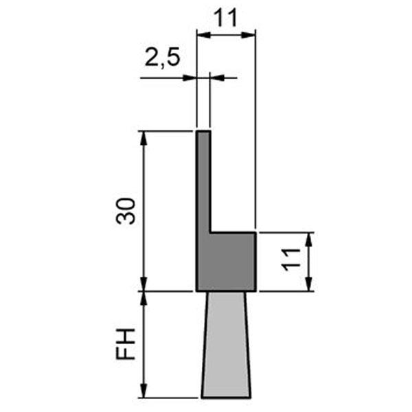 Maße Streifenbürste 6050 Flex