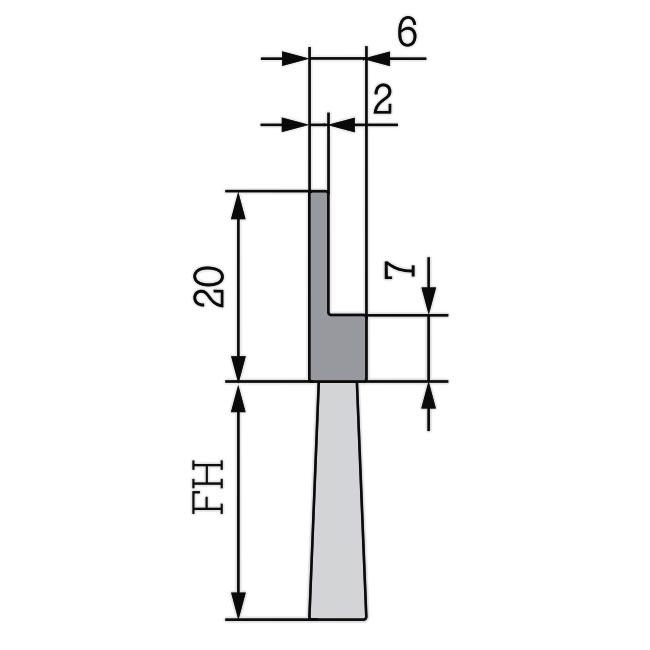 Maße Streifenbürste Flex