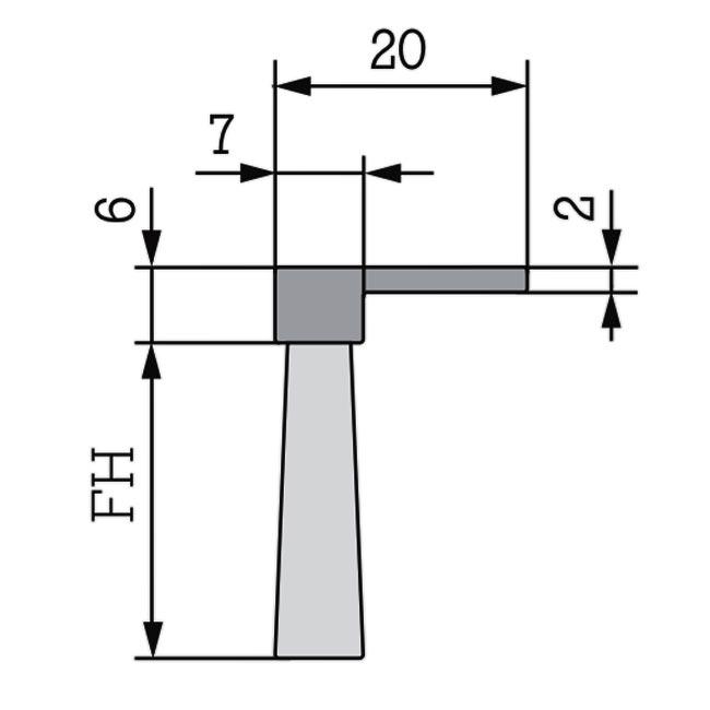 Maße Winkel-Streifenbürste Flex