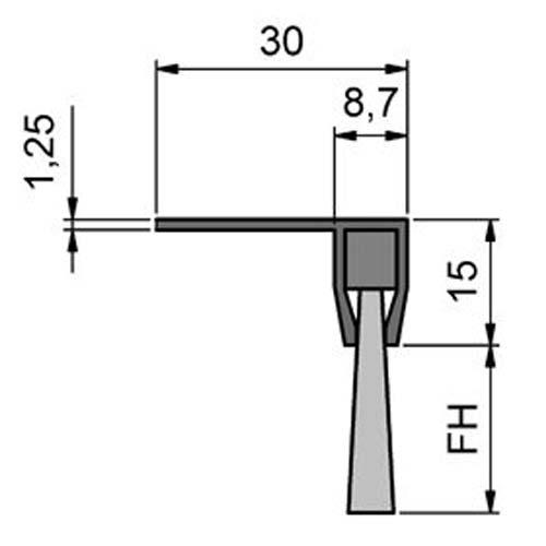 Maße Streifenbürste STL2010