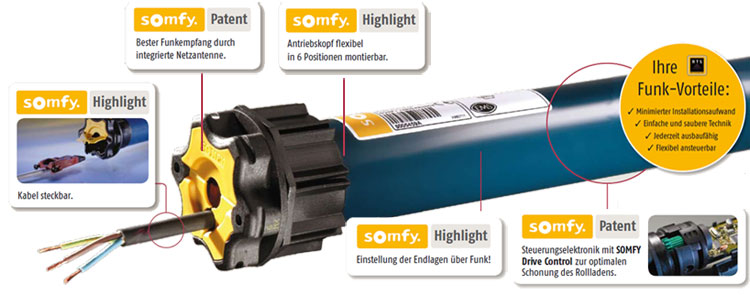 hightlights somfy Oximo wt