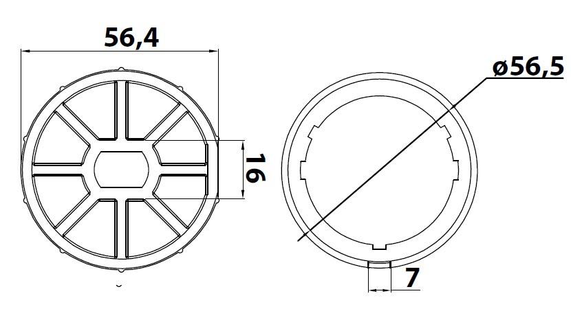 Passend für Rundwelle 60 mm