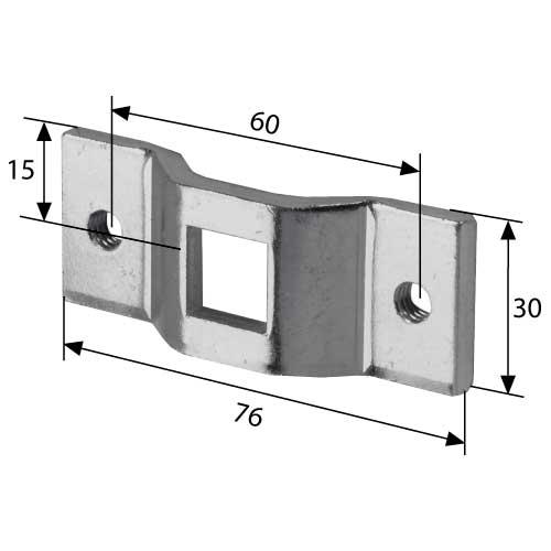Maße Universallager 60 mm M8