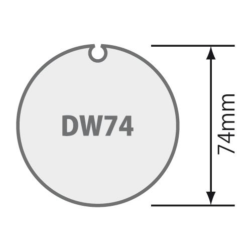Passend für Nutwelle Ø 74 mm mit Rundnut