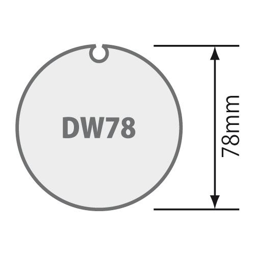 für Nutwelle 78 mm