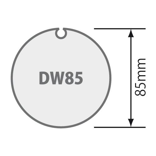 Für Nutwelle DW /DS 85 mit Rundnut
