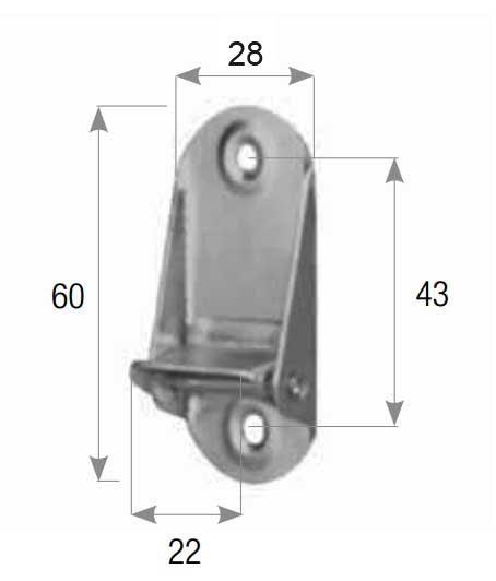 Maßbild Riemensperre Gurtstopper