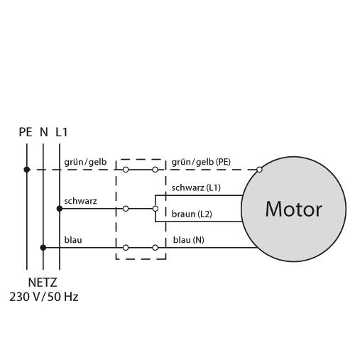 Becker Funk-Rohrmotor PROF+, Baureihe R Anschluss