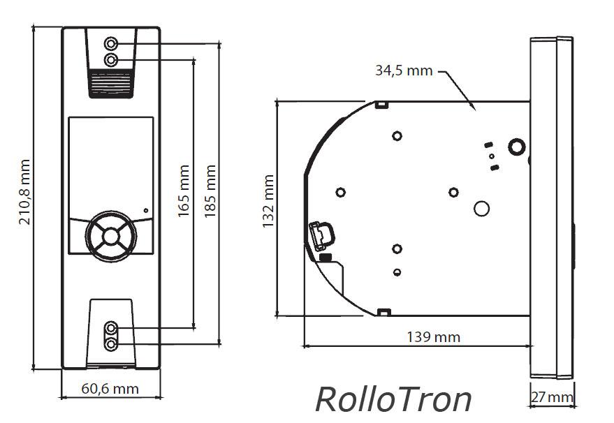 Maße Rollotron 1800 + 1840 (Mini)