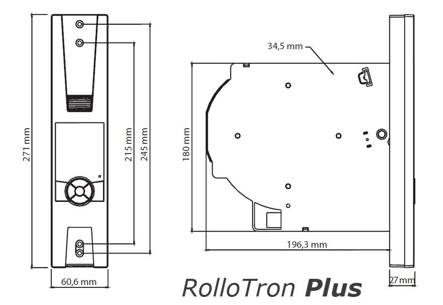 Maße Rollotron Plus 1805