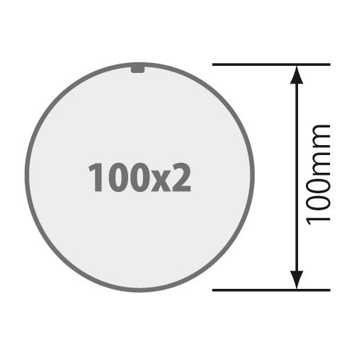 für Rundrohr Ø 100 mm