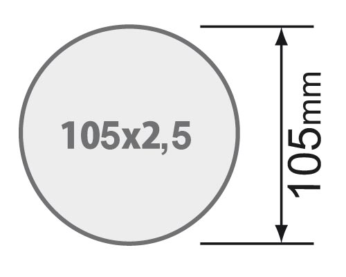Für Rundrohr 105 x 2,5 mm