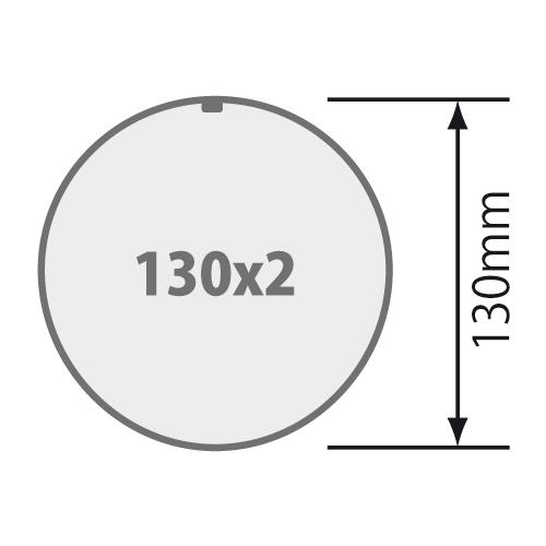 Für Rundrohr Ø 130 mm