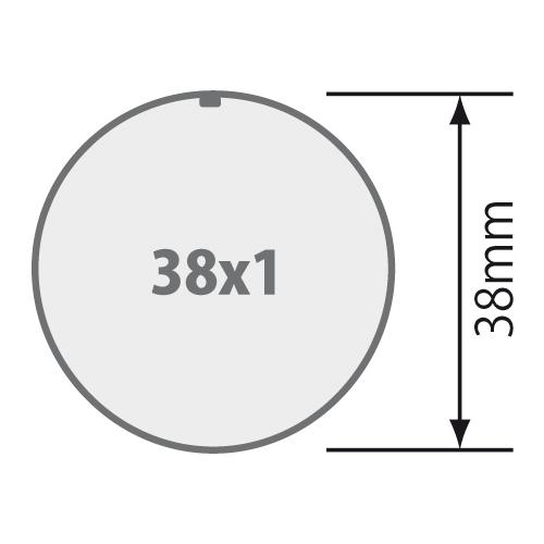 für Rundrohr 38x1 mm
