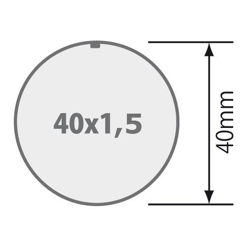 Passend für Rundrohr 40x1,5 mm