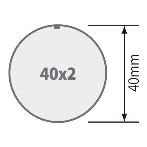 für Rundrohr 40x2 mm