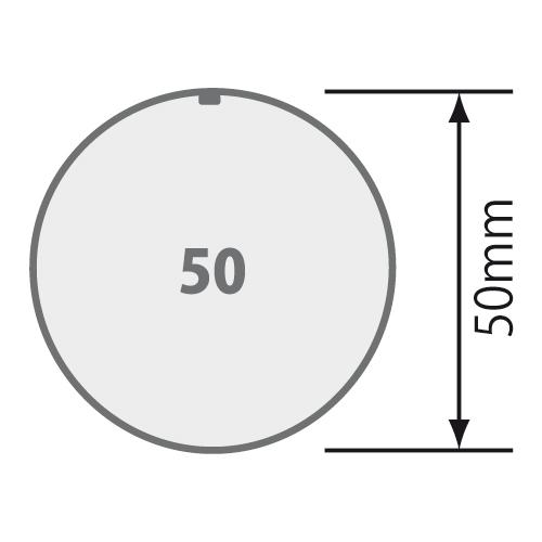 Passend für Rundrohr Ø 50 mm  mit 1,5 mm Wandung.