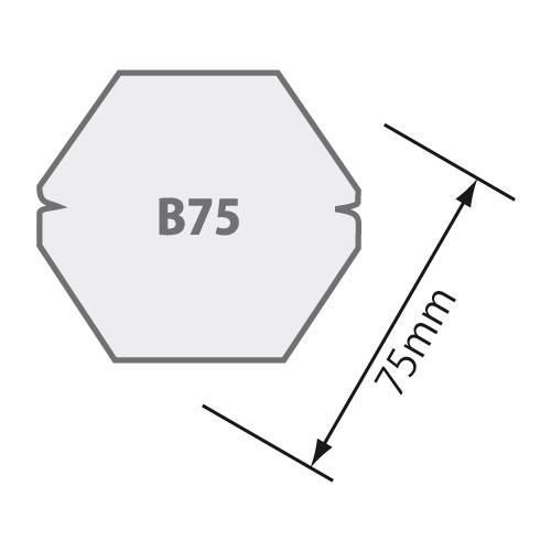 Passend für Sechskantwelle B 75 Ø 75 mm