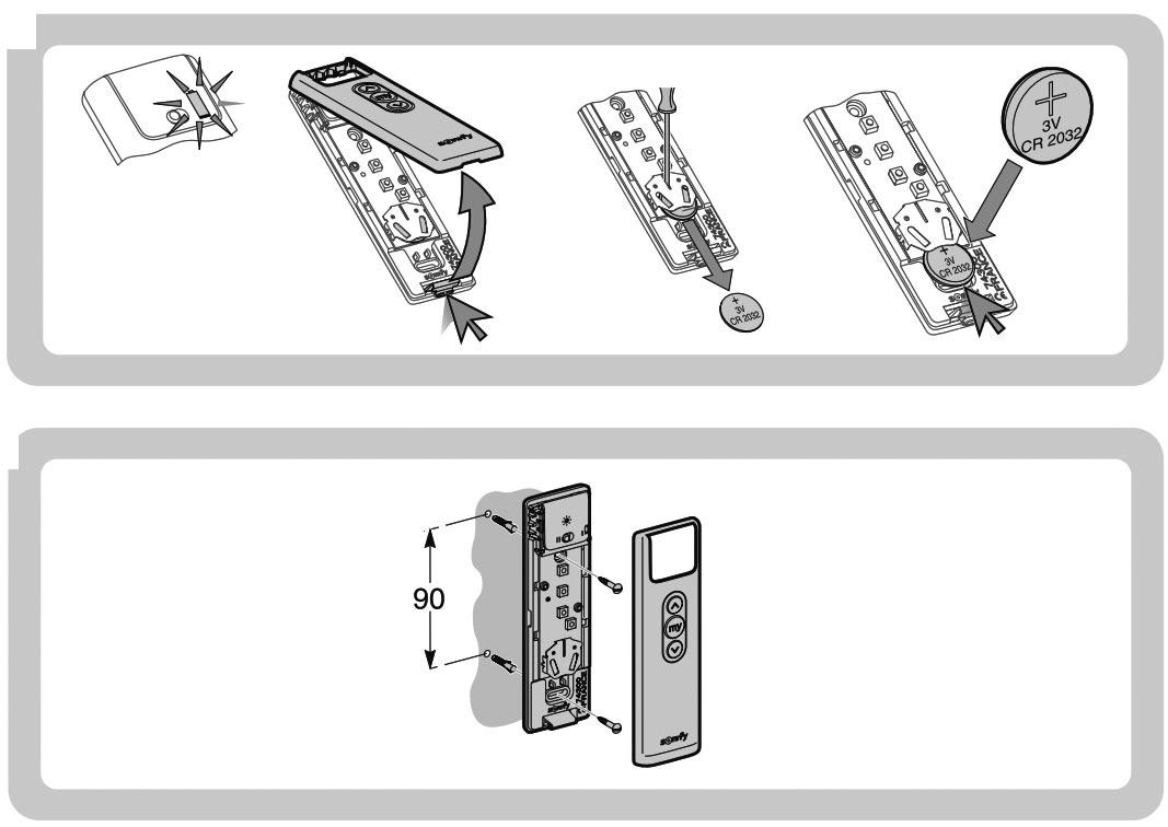 Wandmontage / Batterie