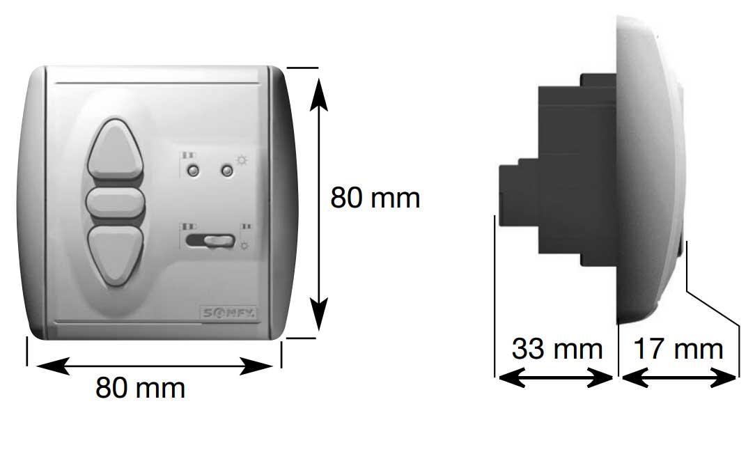 somfy soliris uno komplett kit sonnen und windautomatik steuerung sonnen wind w chter. Black Bedroom Furniture Sets. Home Design Ideas
