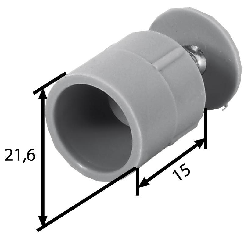 Maße  Stopper 15 mm