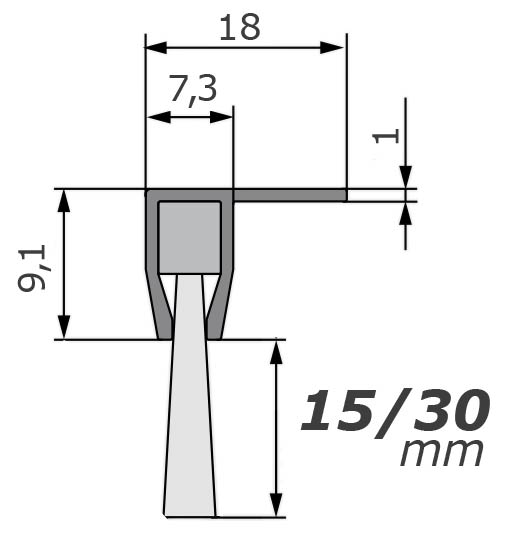 mink b rsten winkel streifenb rste stl1810 90 15mm mit alu profil 100cm l nge b rstendichtung. Black Bedroom Furniture Sets. Home Design Ideas
