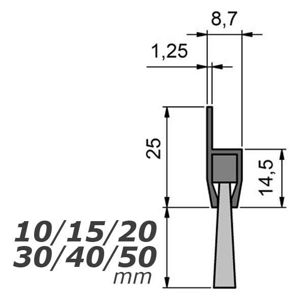 mink b rsten streifenb rste mit langl cher stl2001 30mm. Black Bedroom Furniture Sets. Home Design Ideas