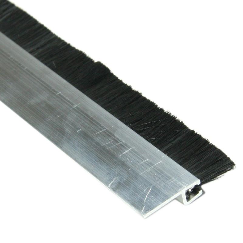 Enobi streifenb rste 15mm mit alu profil 100cm l nge b rstendichtung t rb rste rolladen - Abdichten von fenstern ...