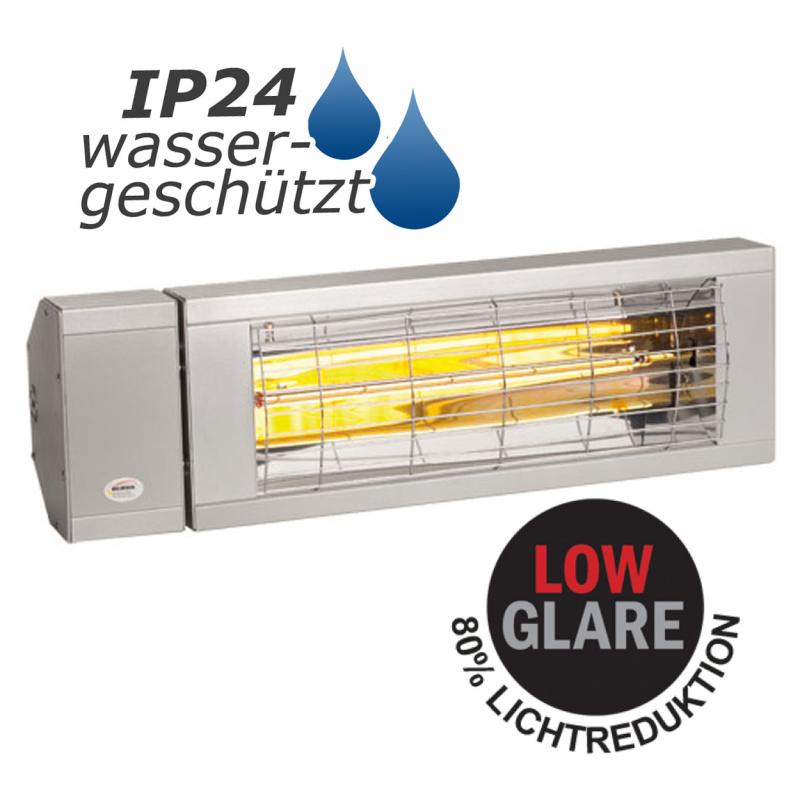 burda heizstrahler smart 2000 ip24 spritzwassergesch tzt low glare 1500 watt silber rolladen. Black Bedroom Furniture Sets. Home Design Ideas