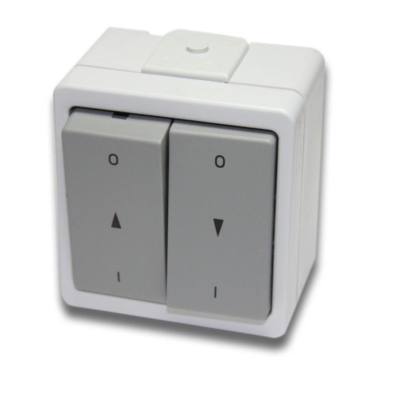 presto vedder doppel wippschalter wassergesch tzt mit rast aufputz grau schalter taster. Black Bedroom Furniture Sets. Home Design Ideas