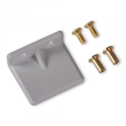 selve anschlagwinkel aus kunststoff mit schrauben 6 mm grau rolladen rolladen und. Black Bedroom Furniture Sets. Home Design Ideas