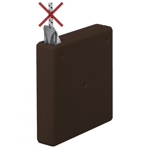 selve mini schnurwickler ohne schnur aufschraubbar f r 4 5 mm schnur braun rolladen. Black Bedroom Furniture Sets. Home Design Ideas
