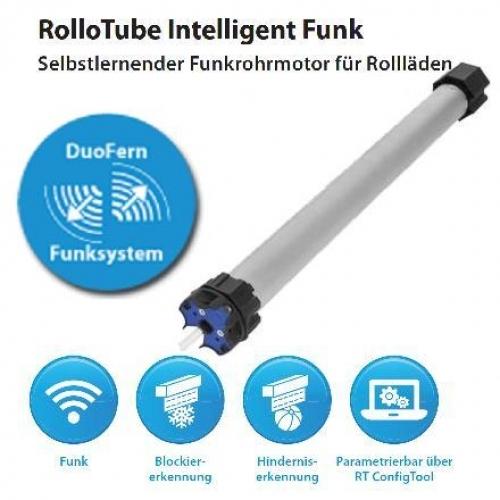 rademacher elektronischer mini rohrmotor mit funkempf nger rollotube intelligent rtfs 10 16 10. Black Bedroom Furniture Sets. Home Design Ideas