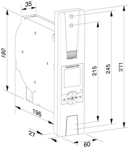 rademacher elektrischer funk gurtwickler f r getriebe. Black Bedroom Furniture Sets. Home Design Ideas