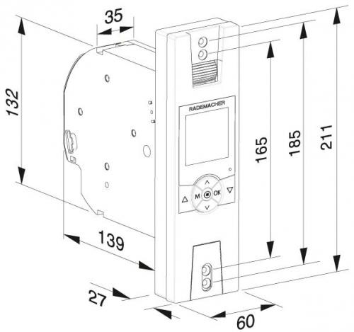 rademacher elektrischer funk gurtwickler rollotron standard duofern 1400 unterputz bis 23 mm. Black Bedroom Furniture Sets. Home Design Ideas