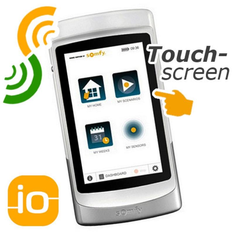 somfy tahoma pad io handsender mit touch display offline rolladen und. Black Bedroom Furniture Sets. Home Design Ideas